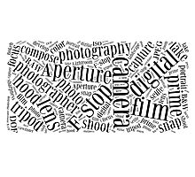 Photography Word Cloud Photographic Print