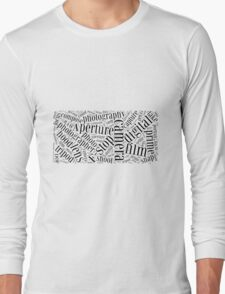 Photography Word Cloud Long Sleeve T-Shirt