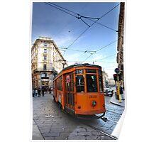 Tram in Milan Poster