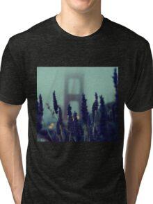 """Purple Haze Daze"" Golden Gate Bridge Tri-blend T-Shirt"