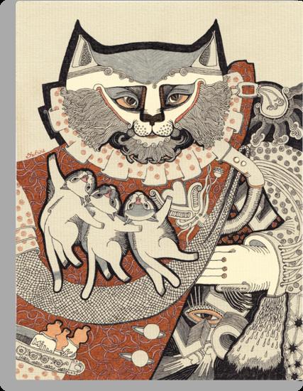 Kitten Papa by Yuliya Art
