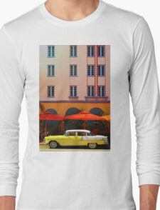 Miami South Beach, Art Deco Long Sleeve T-Shirt