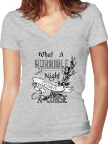 A Cursed Night Women's Fitted V-Neck T-Shirt