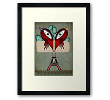 Paris Love Collection Eiffel Tower Birds in love Framed Print