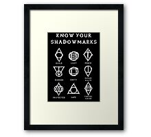 Know Your Shadowmarks (Light) Framed Print