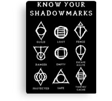 Know Your Shadowmarks (Light) Canvas Print