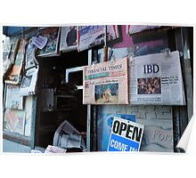 News Source  •  San Fran News Stand Employee Reads Latest News From China Poster
