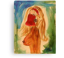 Veiled woman Canvas Print