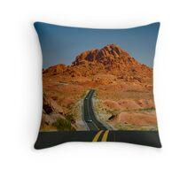 Desert Highway Throw Pillow