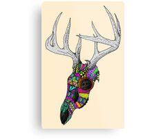 mayan deer skull dots Metal Print