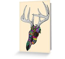 mayan deer skull dots Greeting Card