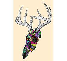 mayan deer skull dots Photographic Print