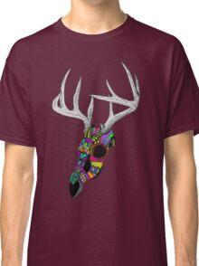 mayan deer skull dots Classic T-Shirt