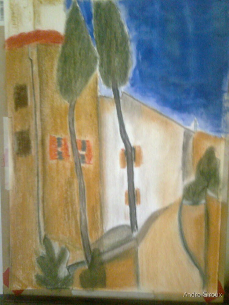 """""""Gracie Modigliani - """"Cypress Trees and Houses"""" / 1919"""" by Andre Giroux"""