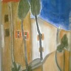 """Gracie Modigliani - ""Cypress Trees and Houses"" / 1919"" by Andre Giroux"