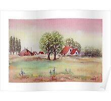 SUMMER MORNING - AQUAREL Poster