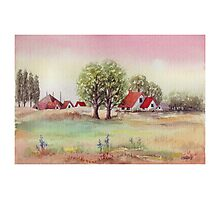 SUMMER MORNING - AQUAREL Photographic Print