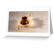 milk splash crown with coffee blob...:-) Greeting Card