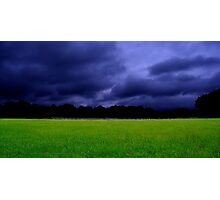 Small Town, Big Field Photographic Print