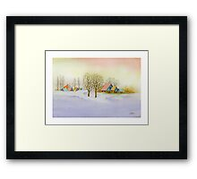WINTER MORNING - AQUAREL Framed Print