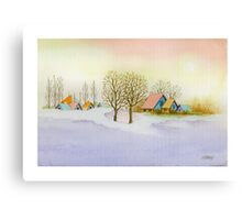 WINTER MORNING - AQUAREL Canvas Print