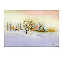 WINTER MORNING - AQUAREL Photographic Print
