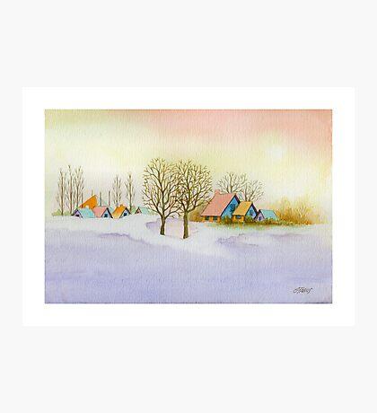 WINTER MORNING - AQUAREL Photographic Print