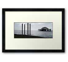 West Pier Panorama Framed Print