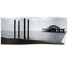 West Pier Panorama Poster