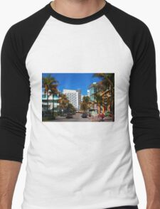 South Beach Miami, Florida Men's Baseball ¾ T-Shirt