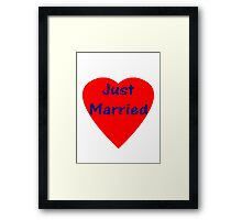 Just Married Sticker and T-Shirt Framed Print