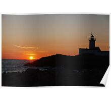 Eastern Point Sunset - Gloucester, Massachusetts Poster