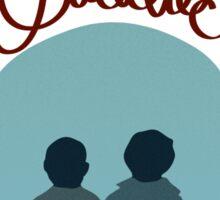 Sleuthin' Buddies ( Sherlock and Watson Besties ) Sticker