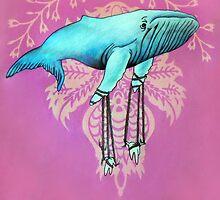Whale with Molar Marionettes  by Janelle Mikolaizik