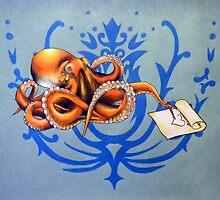 Octopus with Loveletter by Janelle Mikolaizik