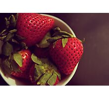 Strawberry Aerial Photographic Print