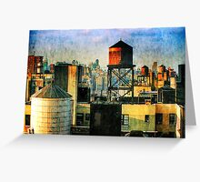Towers of Manhattan Greeting Card