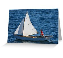 Tom's Sail Dory  Greeting Card