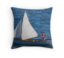 Tom's Sail Dory  Throw Pillow
