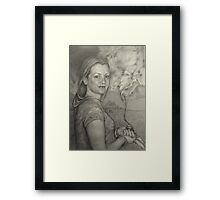 Dani's ink well Framed Print