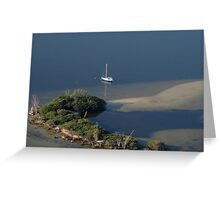 At anchor in the Indian River Lagoon Greeting Card
