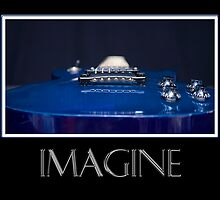 Imagine - Blue Guitar by Trudy Wilkerson