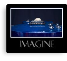 Imagine - Blue Guitar Canvas Print