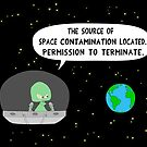 The source of space contamination by martoon