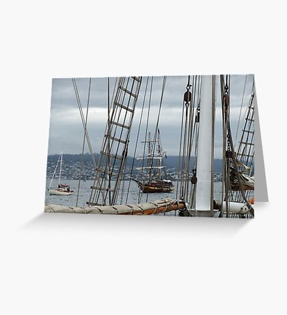Through the Rigging Greeting Card