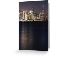 San Francisco Holiday Skyline III Greeting Card
