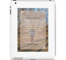 Open Up iPad Case/Skin