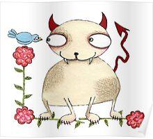 Devil Cat Poster