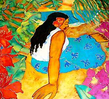 Tropical Flower Girl by Sharon Lewis