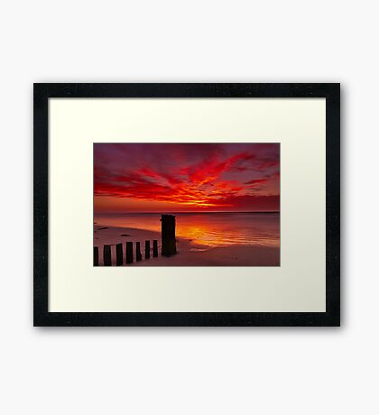 """Tongues of Fire"" Framed Print"